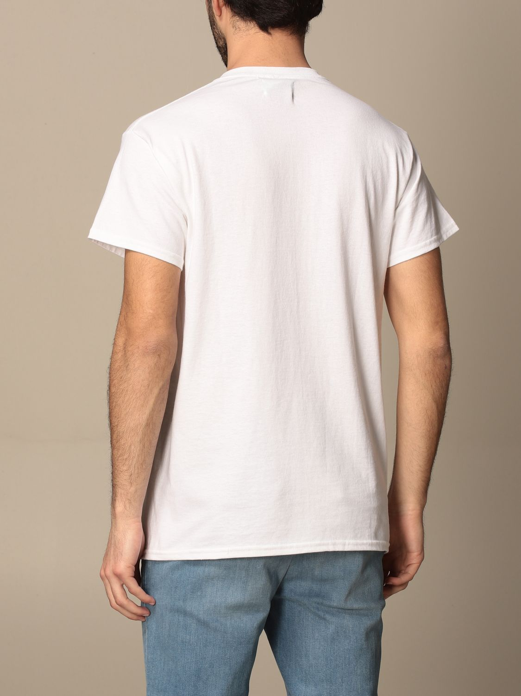 T-shirt Backsideclub: T-shirt Logo Backsideclub in cotone con stampa bianco 2