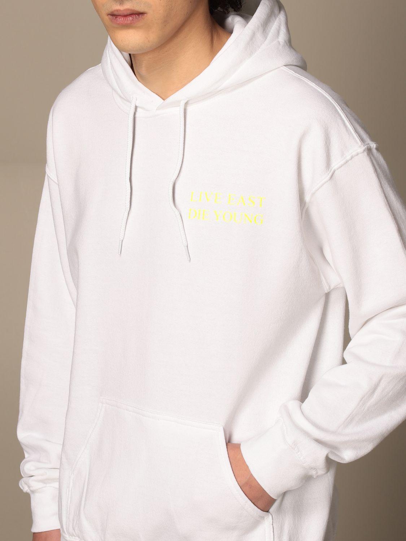 Sweatshirt Backsideclub: Sweatshirt homme Backsideclub blanc 3