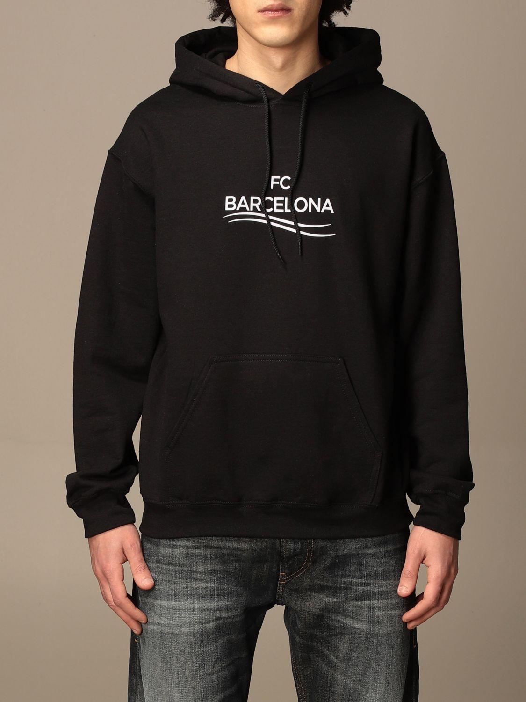 Felpa Backsideclub: Felpa Barcelona Backsideclub in cotone nero 1