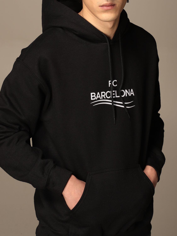 Felpa Backsideclub: Felpa Barcelona Backsideclub in cotone nero 3
