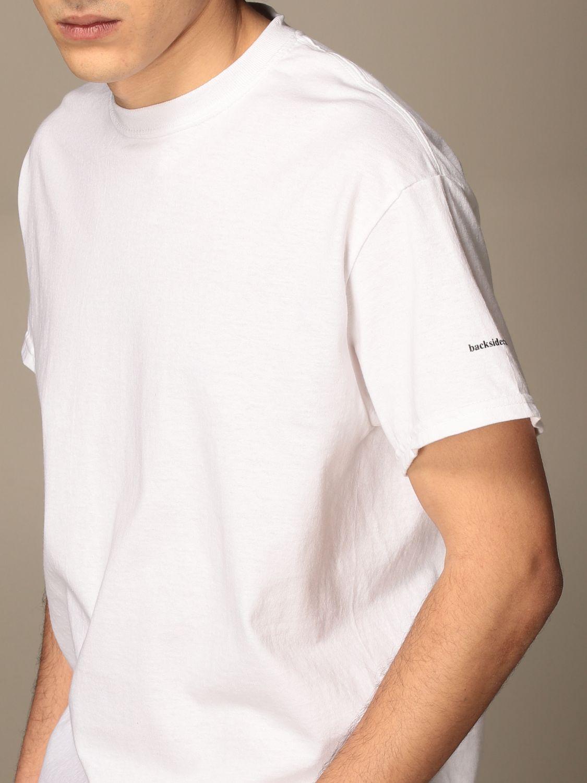 T-shirt Backsideclub: T-shirt men Backsideclub white 3