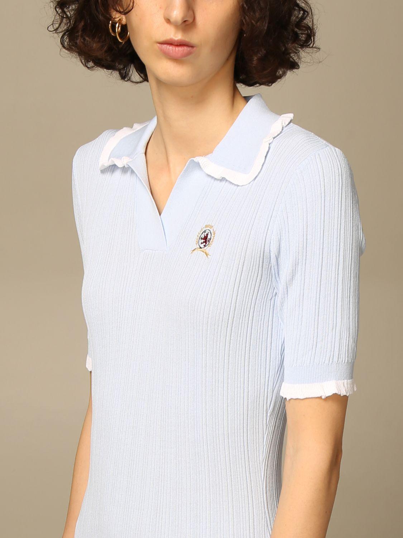 Kleid Hilfiger Collection: Kleid damen Hilfiger Collection hellblau 3