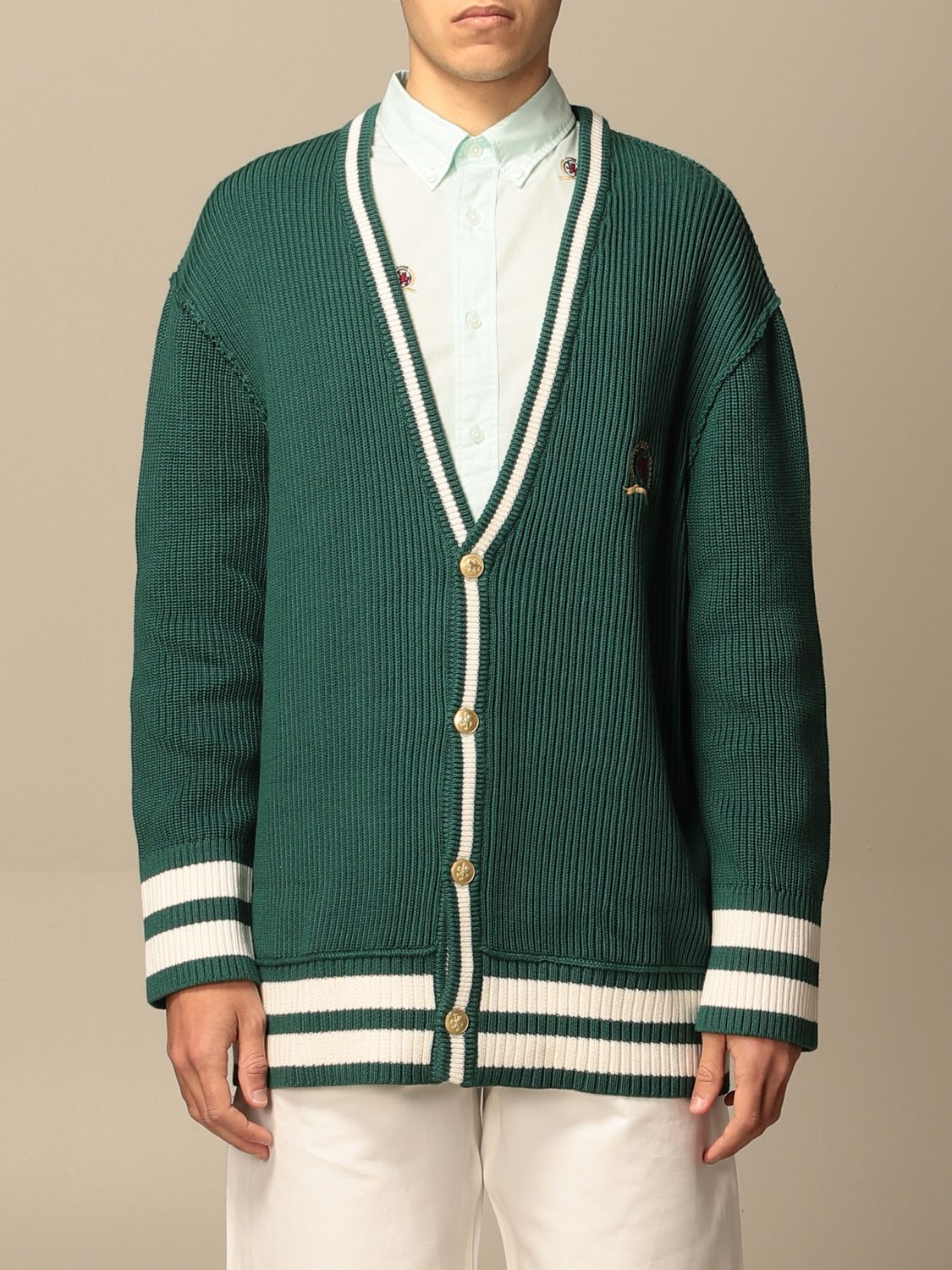 Cardigan Hilfiger Collection: Sweater men Hilfiger Collection green 1