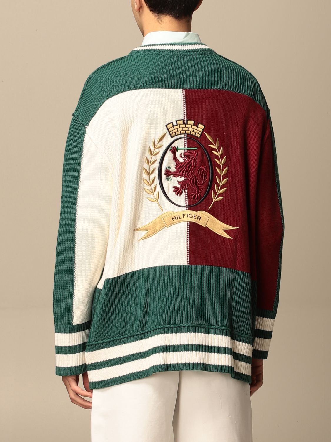Cardigan Hilfiger Collection: Sweater men Hilfiger Collection green 2