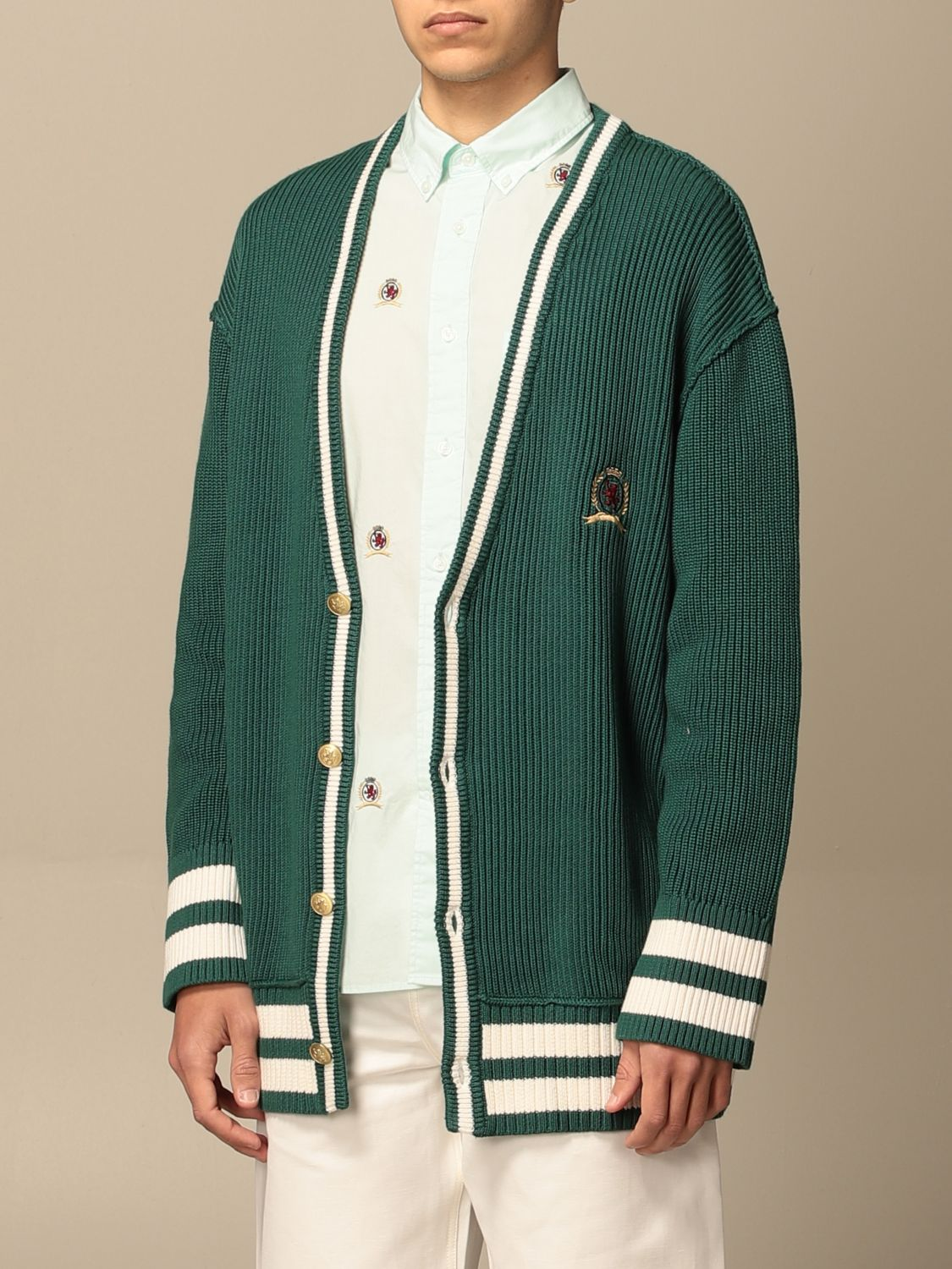 Cardigan Hilfiger Collection: Sweater men Hilfiger Collection green 3