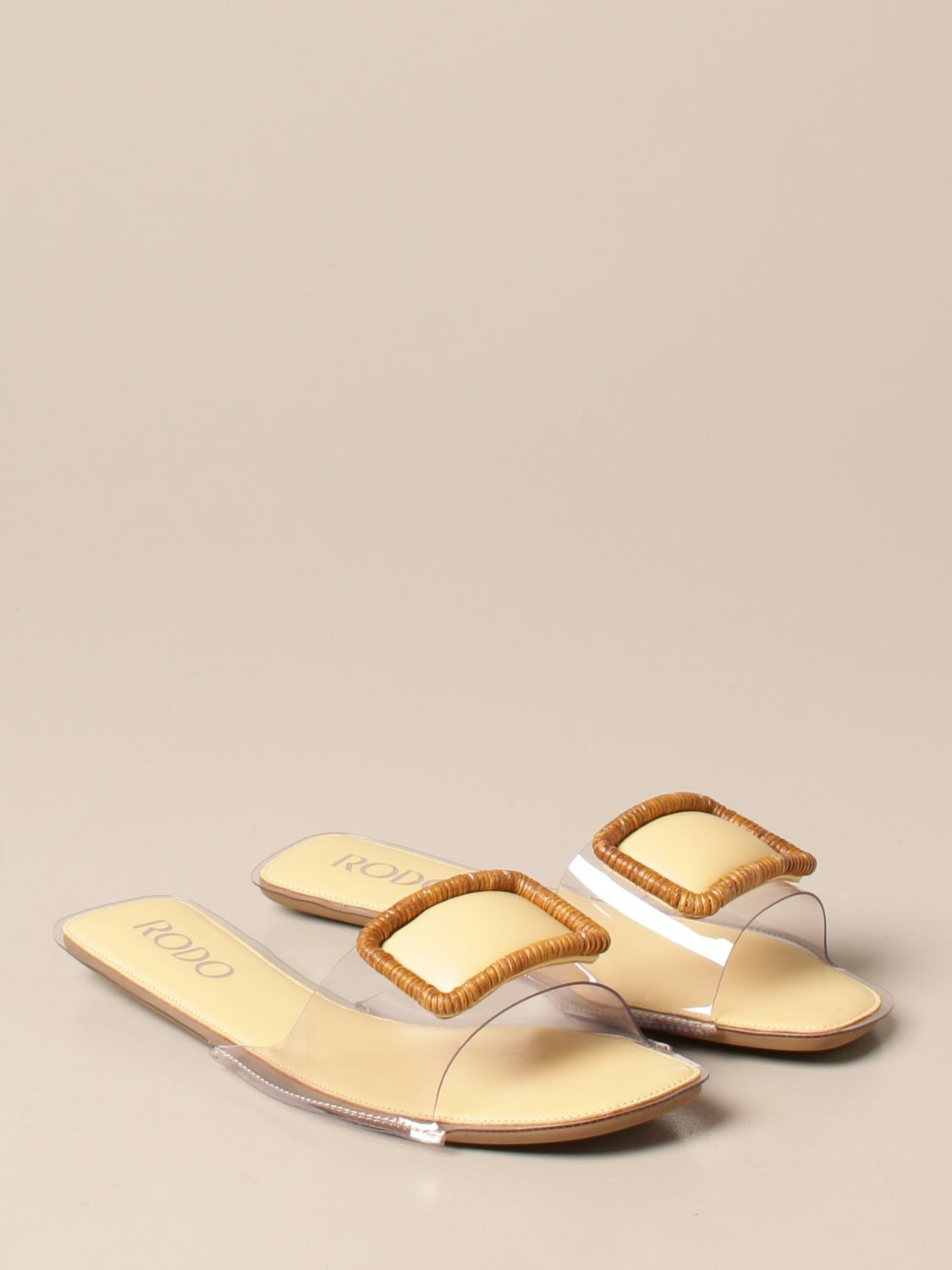 Flat sandals Rodo: Rodo flat sandal in pvc and leather with buckle yellow 2