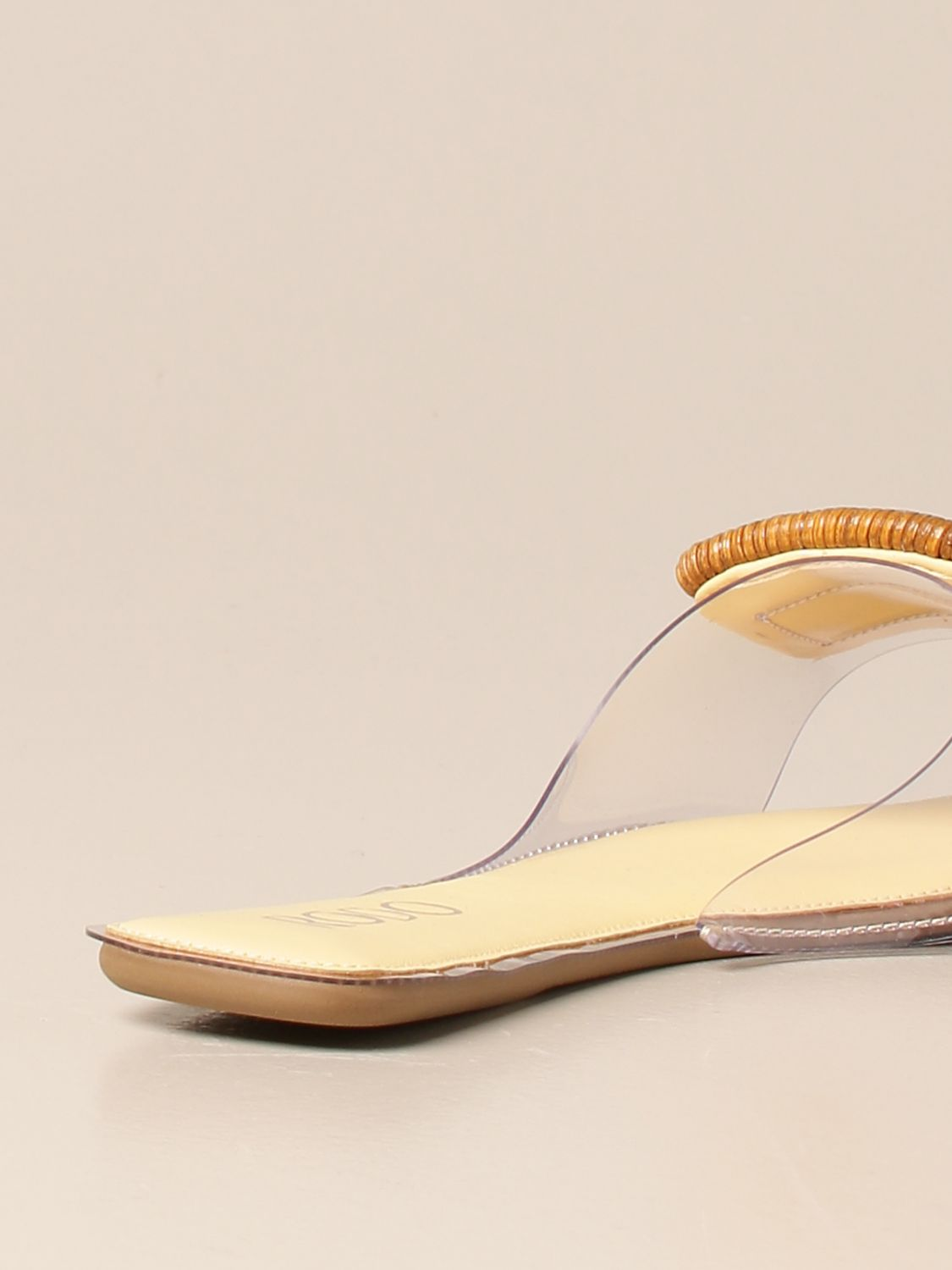 Flat sandals Rodo: Rodo flat sandal in pvc and leather with buckle yellow 3