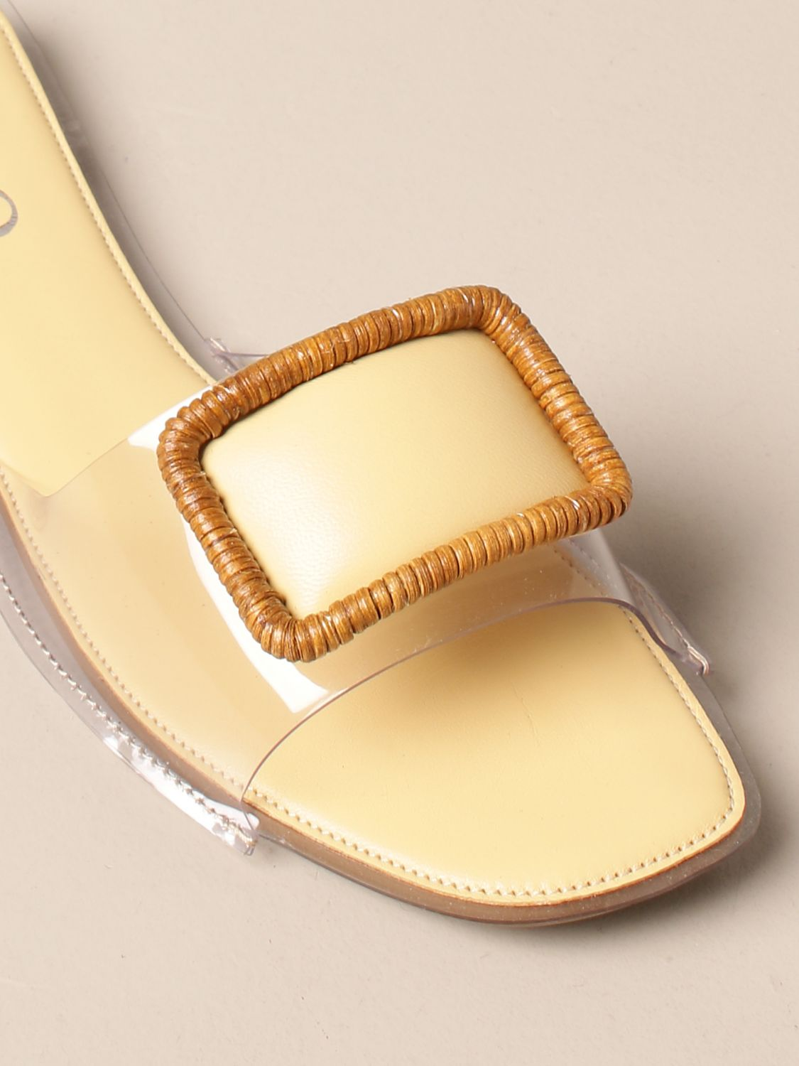 Flat sandals Rodo: Rodo flat sandal in pvc and leather with buckle yellow 4