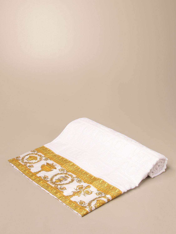 Accessoires Maison Versace Home: Serviette de plage femme Versace Home blanc 1