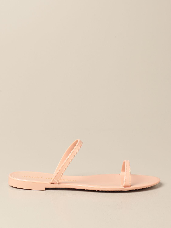Flache Sandalen Stuart Weitzman: Schuhe damen Stuart Weitzman puder 1