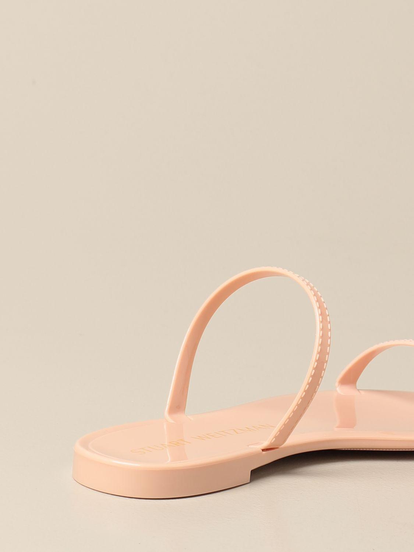 Flache Sandalen Stuart Weitzman: Schuhe damen Stuart Weitzman puder 3