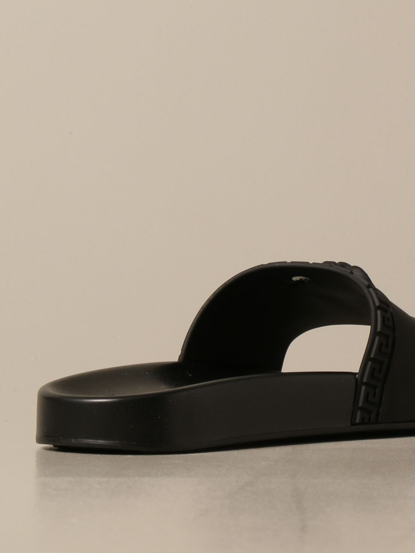 Sandali Versace: Sandalo Palazzo Versace in gomma con testa di Medusa nero 3