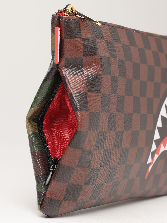 Portadocumenti Sprayground: Pochette limited edition Sprayground in pelle vegana marrone 3