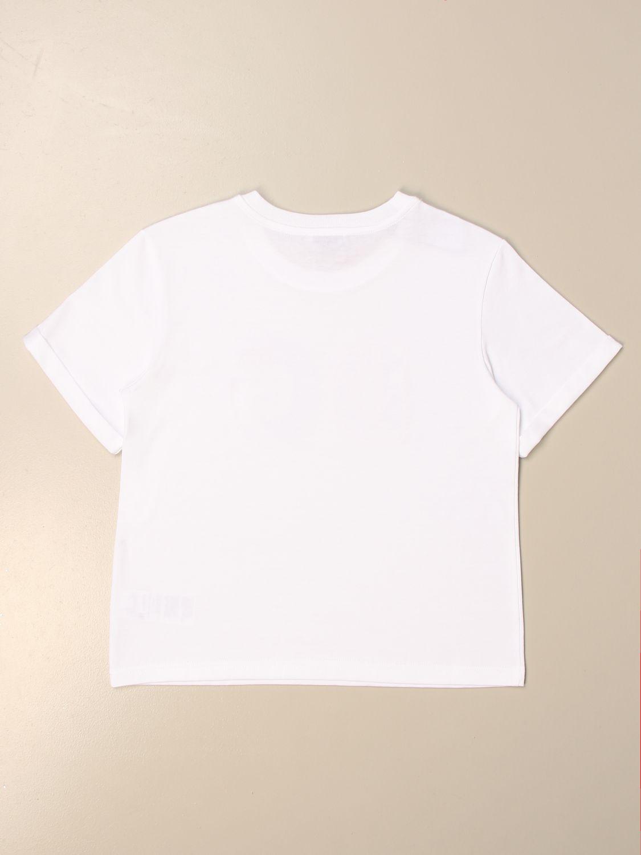 T-shirt Dolce & Gabbana: T-shirt Dolce & Gabbana con logo DG colorato bianco 2
