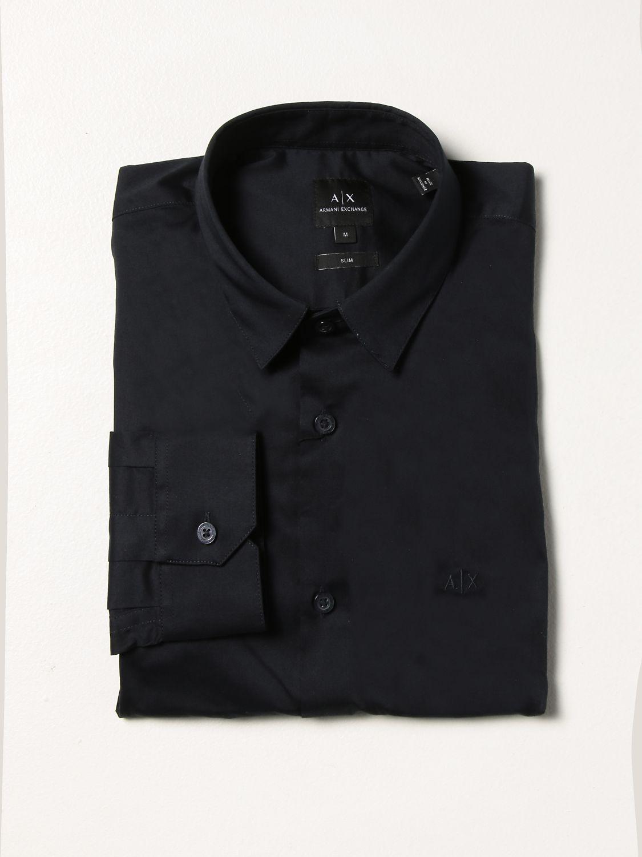 Camisa Armani Exchange: Camisa hombre Armani Exchange azul oscuro 1