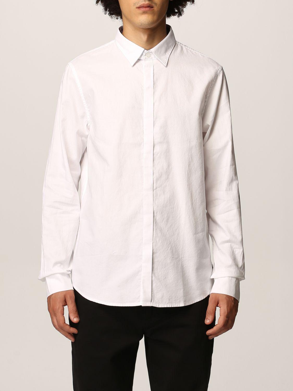Camicia Armani Exchange: Collo italiano oxford basic bianco 1
