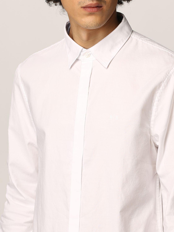 Camicia Armani Exchange: Collo italiano oxford basic bianco 3