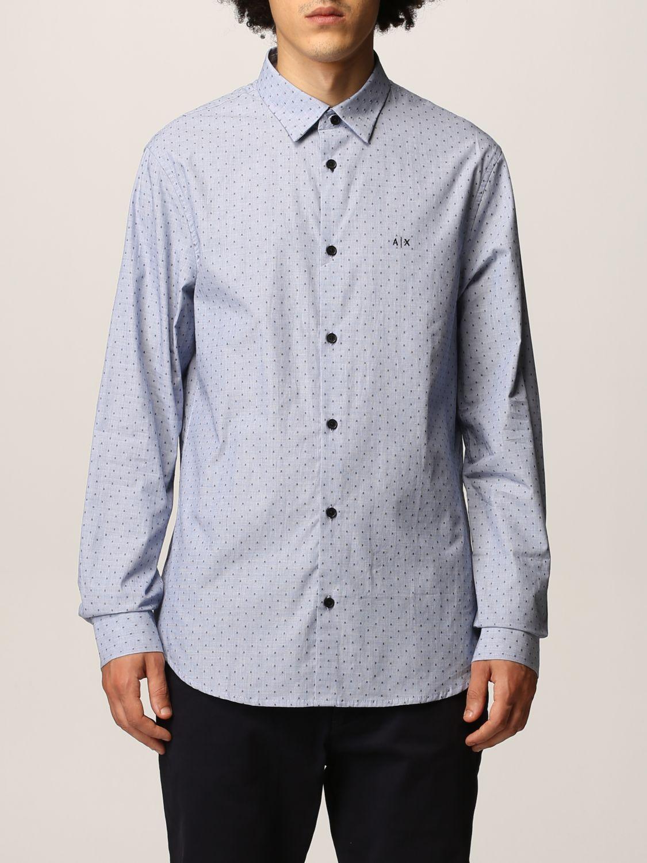 Рубашка Armani Exchange: Рубашка Мужское Armani Exchange голубой 1