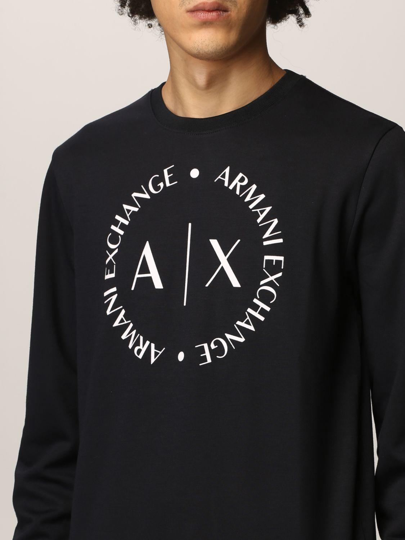 Felpa Armani Exchange: Felpa Armani Exchange in cotone con logo blue 3