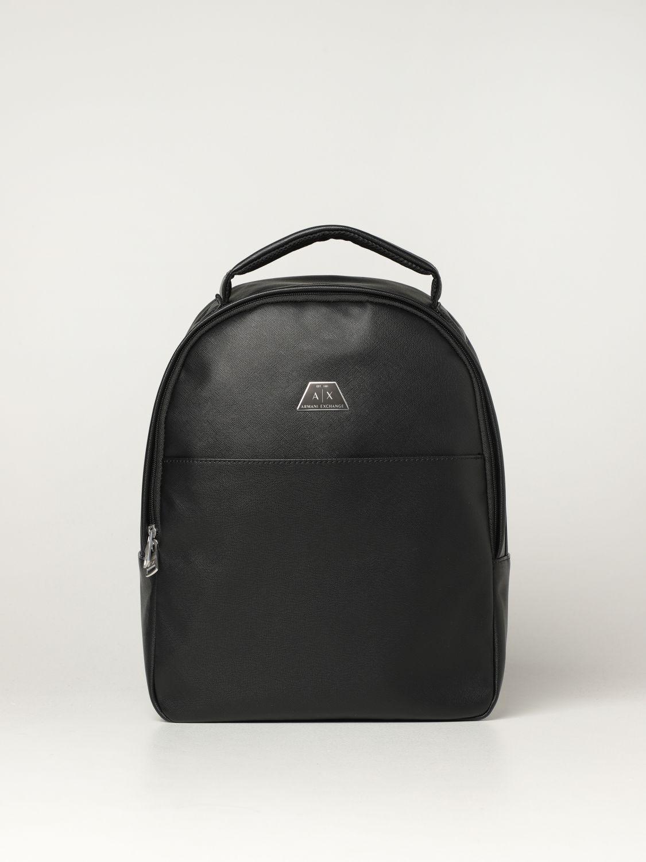 Backpack Armani Exchange: Armani Exchange backpack in saffiano synthetic leather black 1