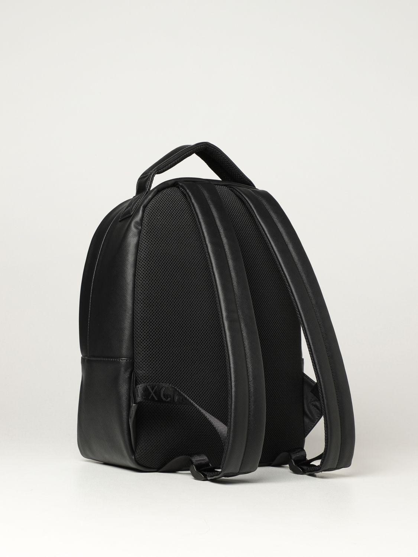 Backpack Armani Exchange: Armani Exchange backpack in saffiano synthetic leather black 2