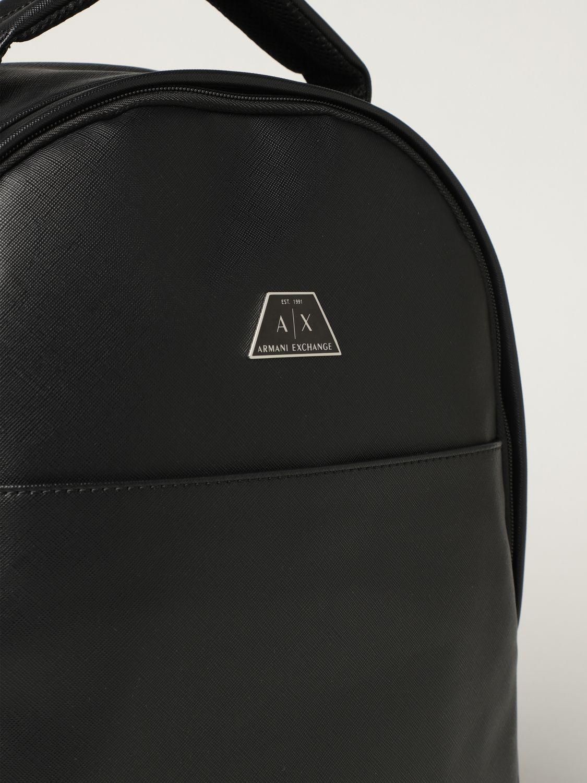 Backpack Armani Exchange: Armani Exchange backpack in saffiano synthetic leather black 3