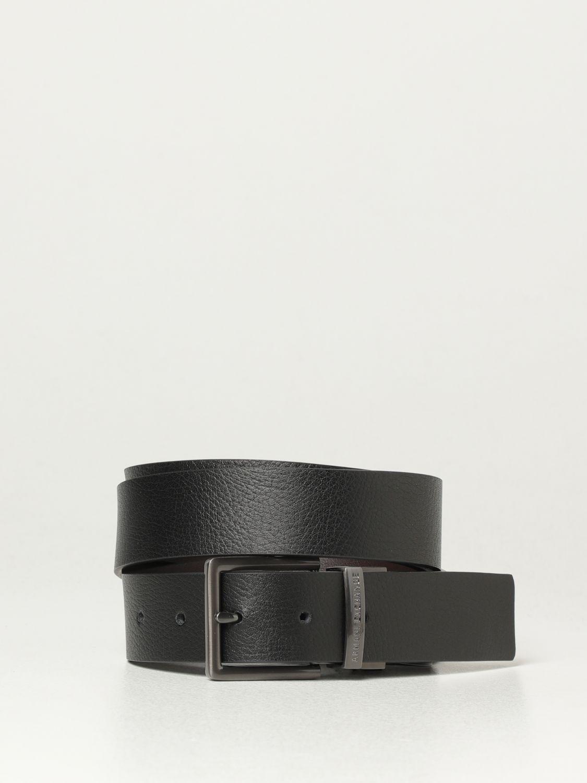 Cintura Armani Exchange: Cintura reversibile Armani Exchange in pelle nero 1