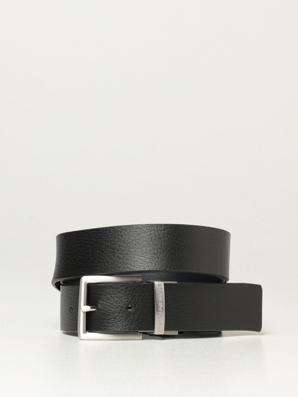 Belt Armani Exchange: Armani Exchange reversible leather belt blue 1