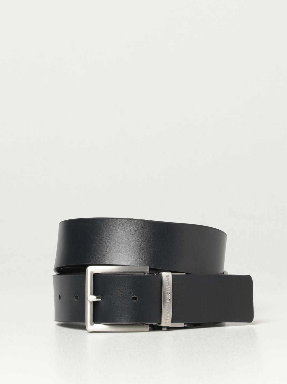 Belt Armani Exchange: Armani Exchange reversible leather belt blue 2