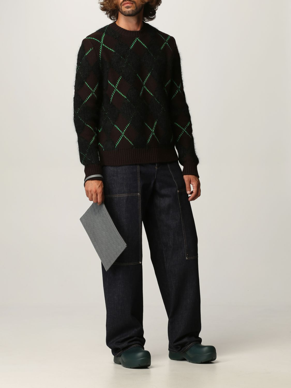 Sweater Bottega Veneta: Bottega Veneta sweater in wool and mohair dark 2