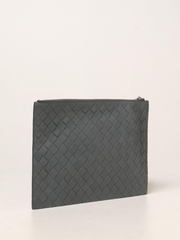 Portadocumenti Bottega Veneta: Pochette Bottega Veneta in pelle intrecciata grigio 3