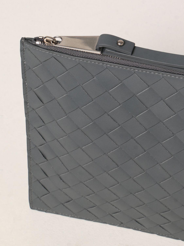 Portadocumenti Bottega Veneta: Pochette Bottega Veneta in pelle intrecciata grigio 4