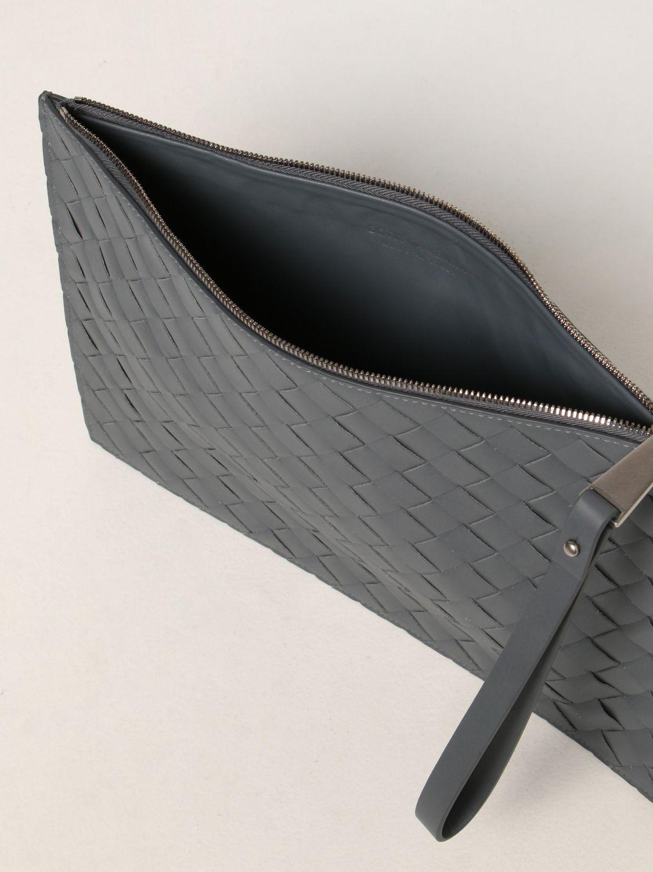 Portadocumenti Bottega Veneta: Pochette Bottega Veneta in pelle intrecciata grigio 5