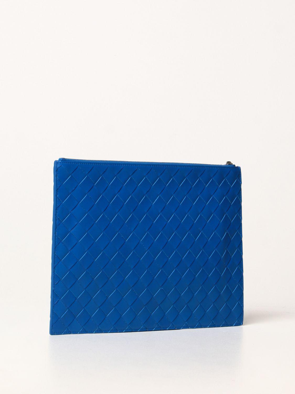 Portadocumenti Bottega Veneta: Pochette Bottega Veneta in pelle intrecciata cobalto 3