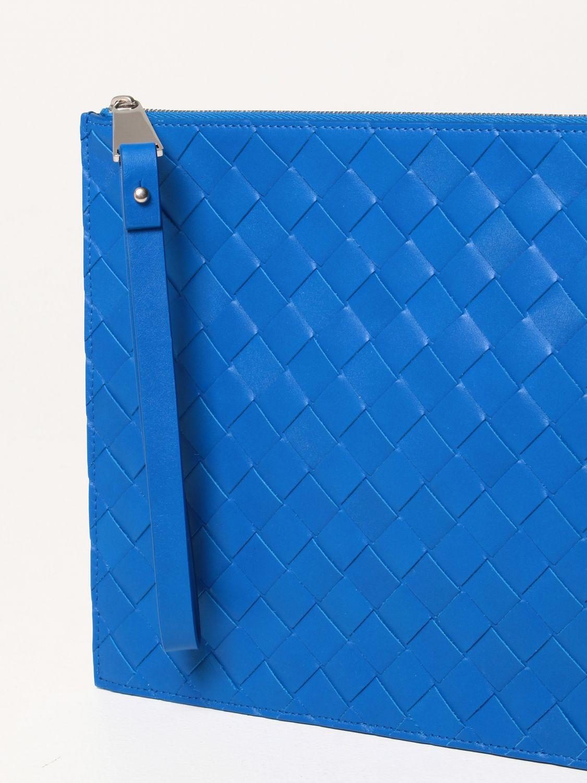 Portadocumenti Bottega Veneta: Pochette Bottega Veneta in pelle intrecciata cobalto 4