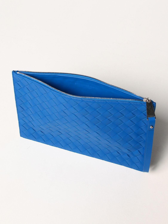Portadocumenti Bottega Veneta: Pochette Bottega Veneta in pelle intrecciata cobalto 5