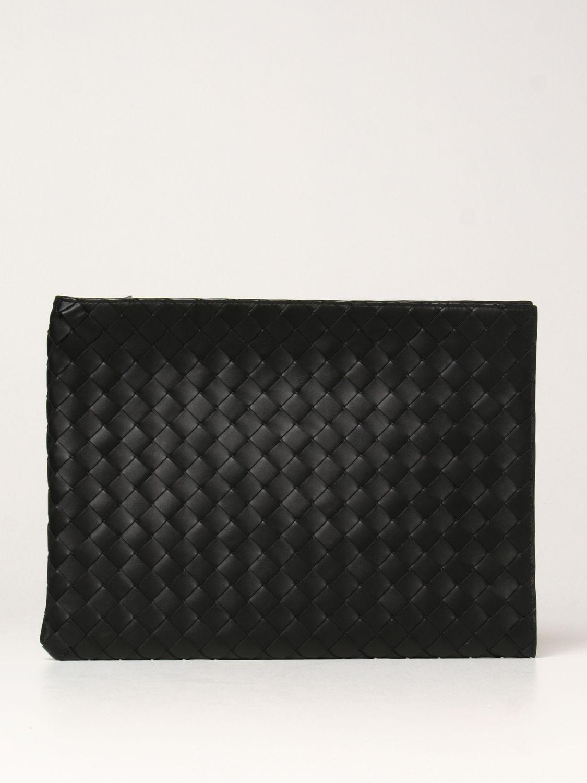 Portadocumenti Bottega Veneta: Porta documenti Bottega Veneta in pelle intrecciata nero 1