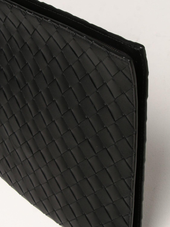 Portadocumenti Bottega Veneta: Porta documenti Bottega Veneta in pelle intrecciata nero 4