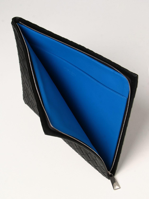 Portadocumenti Bottega Veneta: Porta documenti Bottega Veneta in pelle intrecciata nero 5