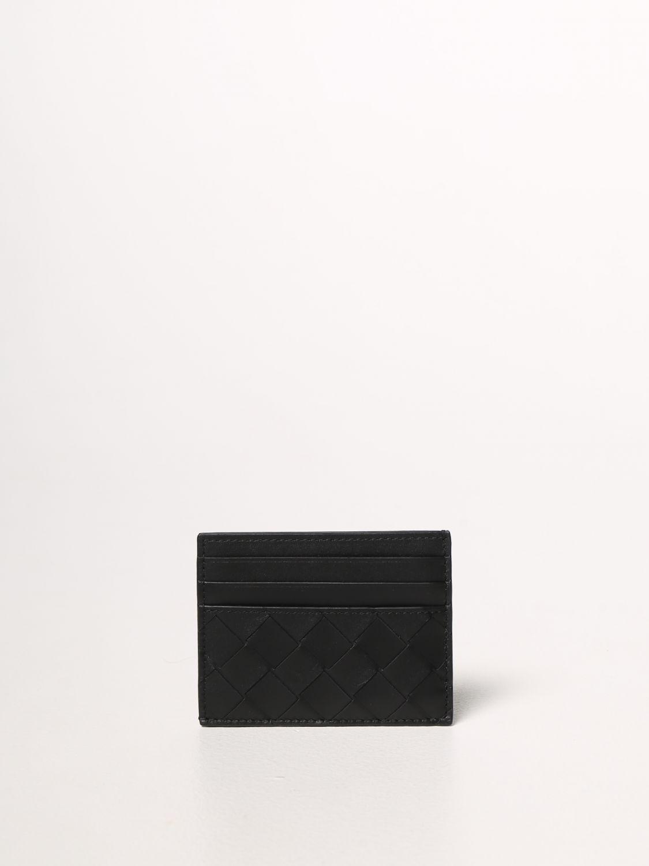 Portafoglio Bottega Veneta: Porta carte di credito Bottega Veneta in pelle intrecciata 1.5 nero 2