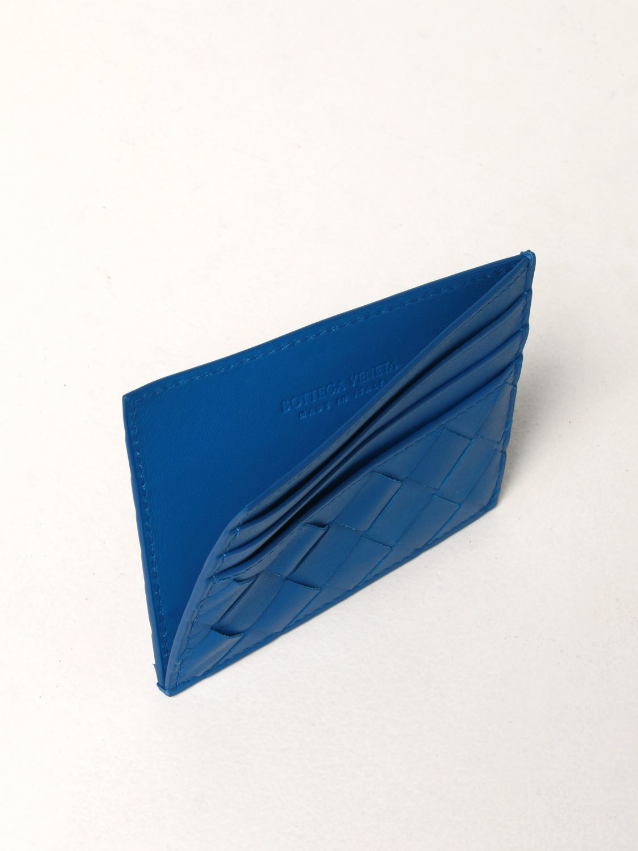 Portafoglio Bottega Veneta: Porta carte di credito Bottega Veneta in pelle intrecciata 1.5 cobalto 3