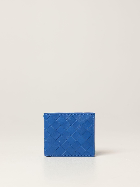 Wallet Bottega Veneta: Bottega Veneta wallet in woven leather 1.5 cobalt 1