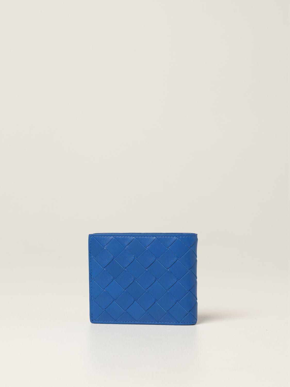 Wallet Bottega Veneta: Bottega Veneta wallet in woven leather 1.5 cobalt 3