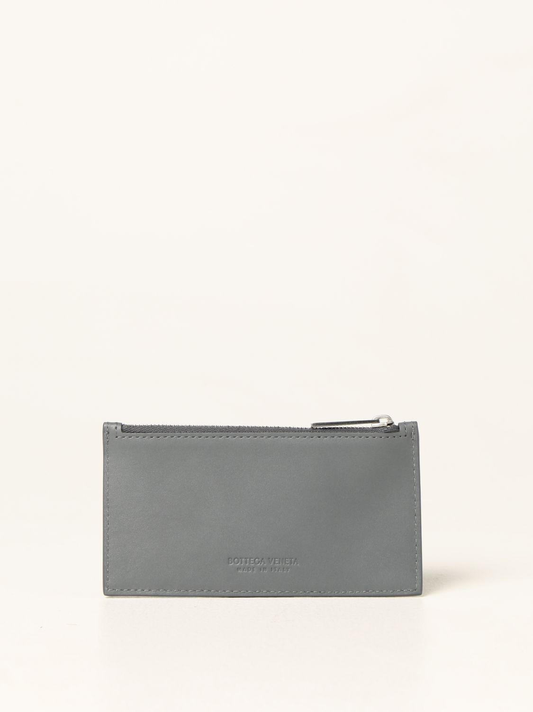 Portafoglio Bottega Veneta: Porta carte Bottega Veneta in pelle intrecciata 1.5 grigio 2