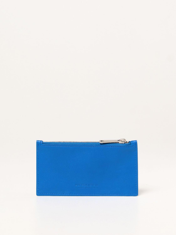 Portafoglio Bottega Veneta: Porta carte Bottega Veneta in pelle intrecciata 1.5 cobalto 2