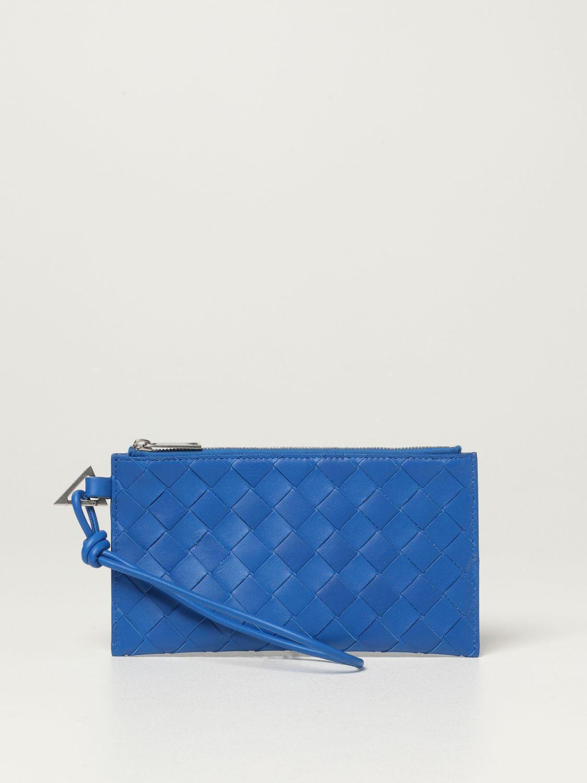Briefcase Bottega Veneta: Bottega Veneta wallet in woven leather 1.5 cobalt 1