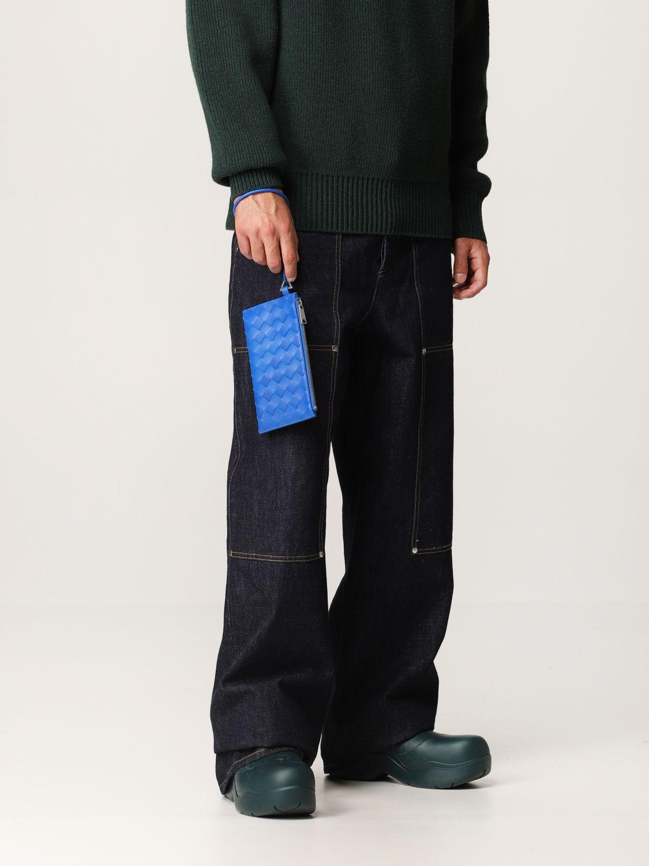 Briefcase Bottega Veneta: Bottega Veneta wallet in woven leather 1.5 cobalt 2