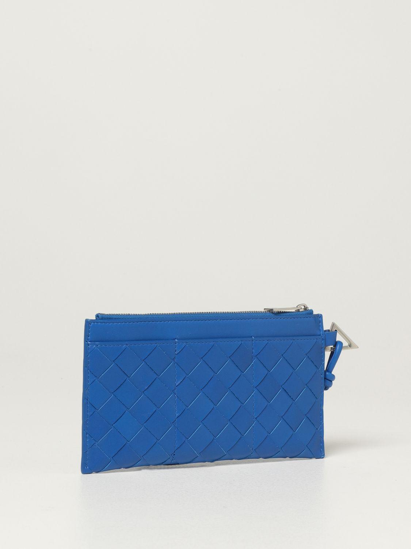 Briefcase Bottega Veneta: Bottega Veneta wallet in woven leather 1.5 cobalt 3