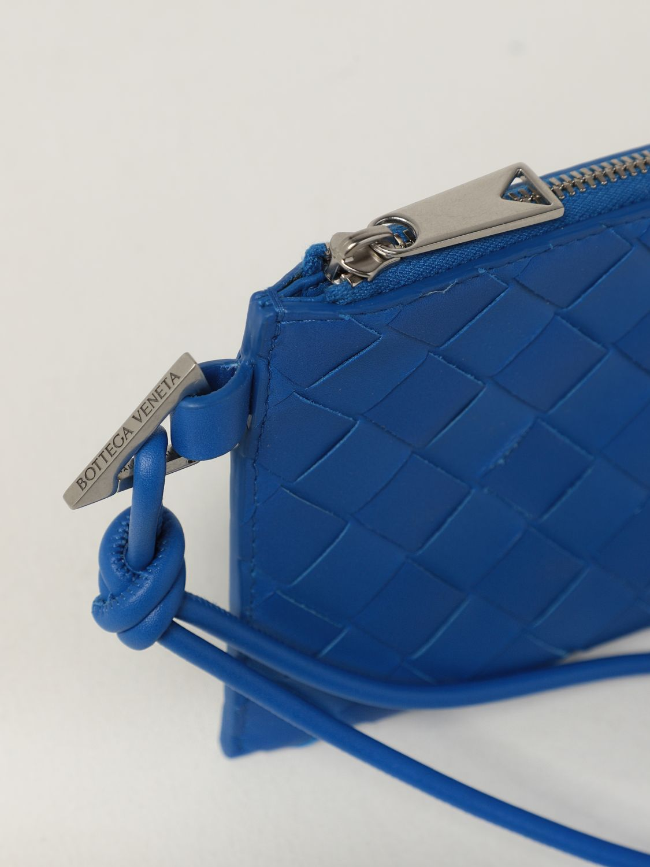 Briefcase Bottega Veneta: Bottega Veneta wallet in woven leather 1.5 cobalt 4