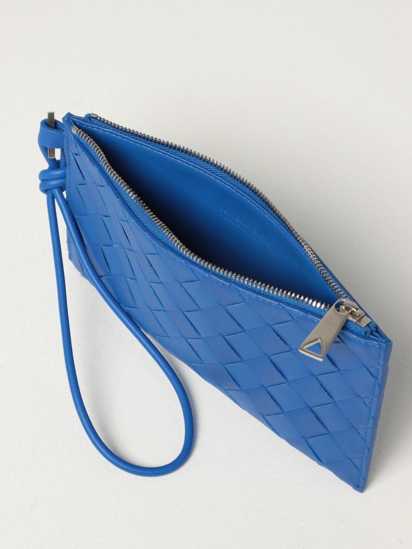 Briefcase Bottega Veneta: Bottega Veneta wallet in woven leather 1.5 cobalt 5
